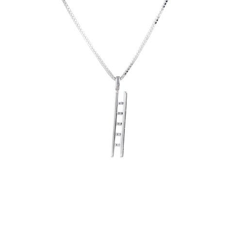 Edge Only Ladder Pendant in sterling silver