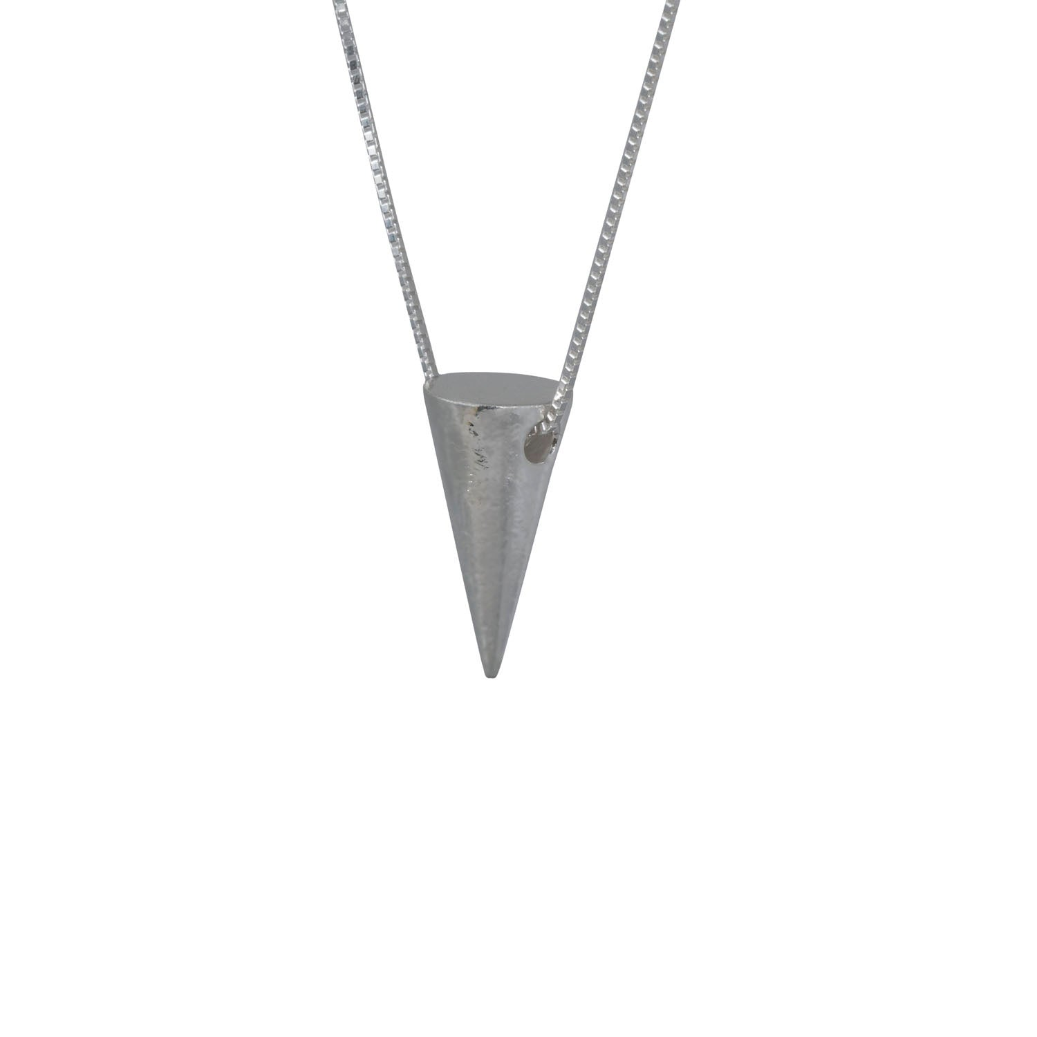 Edge Only Men's Large 3D Cone Pendant in sterling silver
