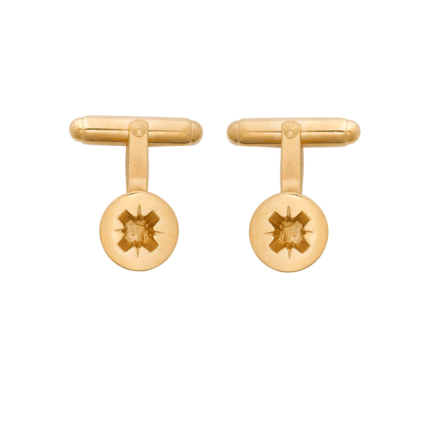 Edge Only Phillips-head Screw Cufflinks in sterling silver