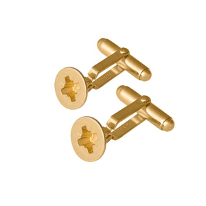 Edge Only Phillips-head Screw Cufflinks in gold vermeil