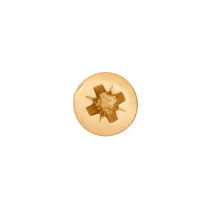 Edge Only Phillips-head Screw Pin in gold vermeil
