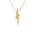 Edge Only Pointed Lightning Bolt Pendant in 18ct gold vermeil