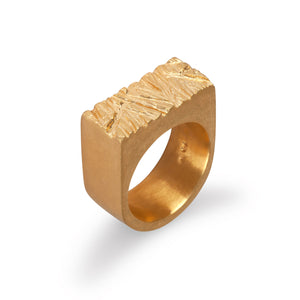 Edge Only Rugged Ring in 18ct gold vermeil