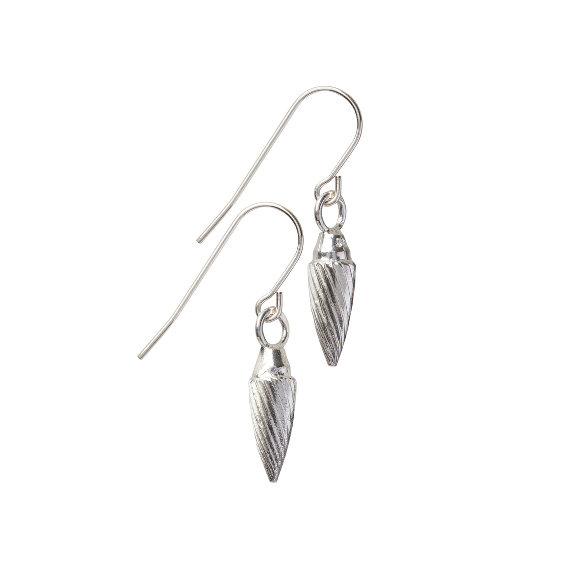 Edge Only Spiral Drop Earrings in sterling silver