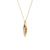 Edge Only Spiral Drop Pendant in 18ct gold vermeil