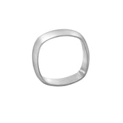 Edge Only Squared Off Ring in matt finish sterling silver