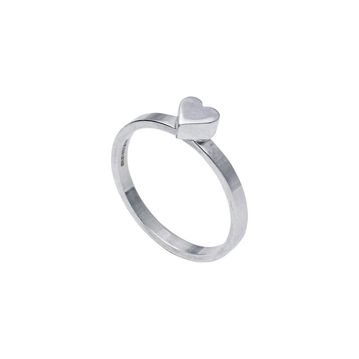 Edge Only heart Stacking Ring in sterling silver