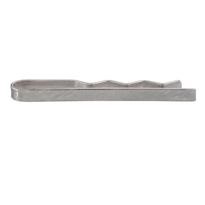 Edge Only Filed Tie Bar in sterling silver