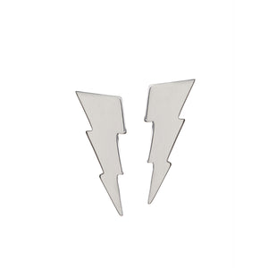 Edge Only Triple Bolt Earrings in sterling silver