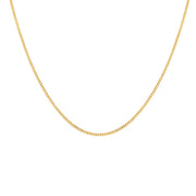 Edge Only 2mm curb chain in 18ct gold vermeil