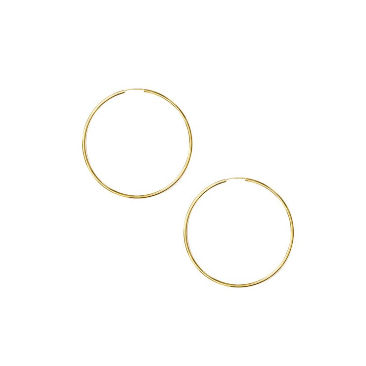 Hoops 40mm Sleeper in gold vermeil