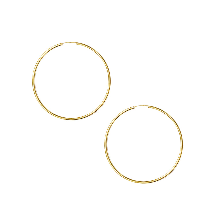 Hoops 50mm Sleeper in gold vermeil