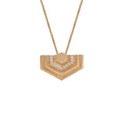 Edge Only Diamond Hexagon Necklace in 14 Carat Gold