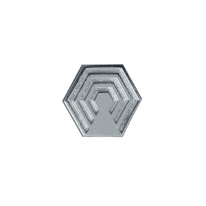 EOxLH Hexagon Lapel Pin in sterling silver