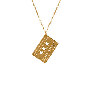 Electronic Sheep X Edge Only Mixed Tape Pendant 18ct gold vermeil