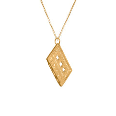 Electronic Sheep X Edge Only Mixed Tape Pendant in gold vermeil