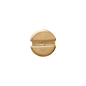 Edge Only Flat-head Screw Earring (single) in 18ct gold vermeil