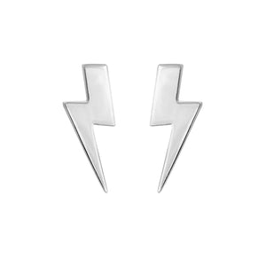 Edge Only Flat Top Lightning Bolt Earrings