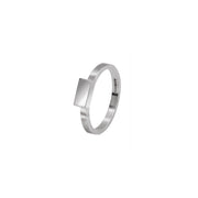 Edge Only Rectangle Stacking Ring in Sterling Silver