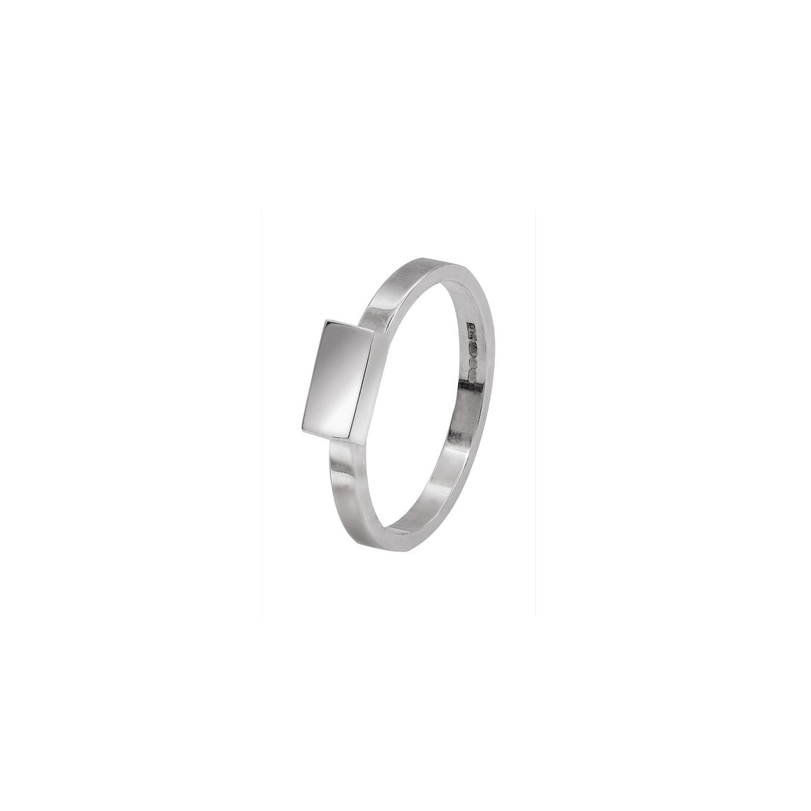 Rectangle Stacking Ring in Sterling Silver