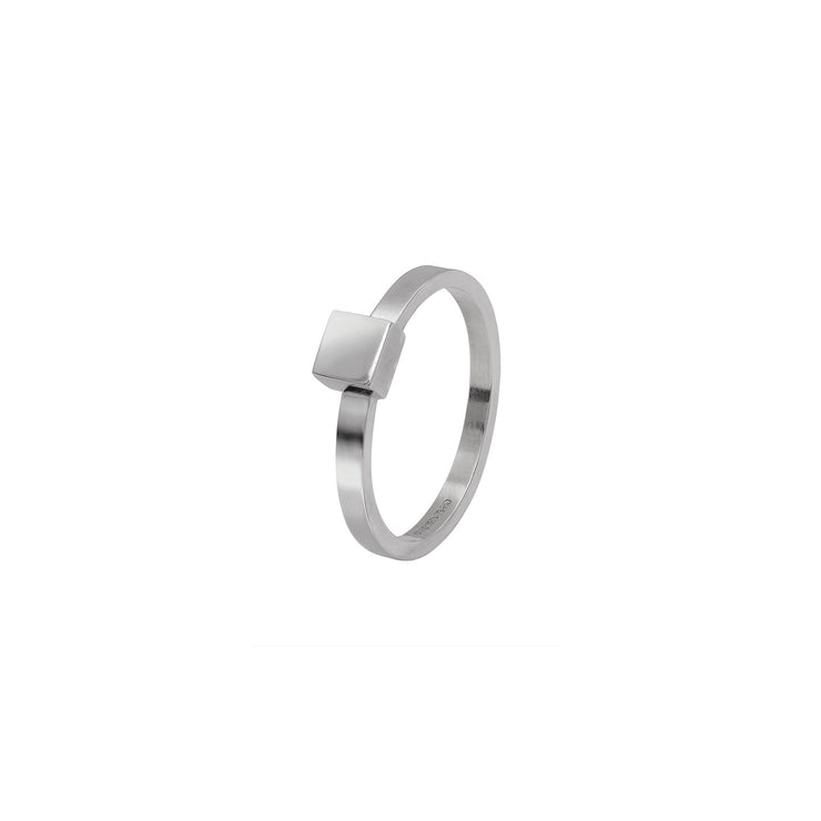 Square Stacking Ring in Sterling Silver