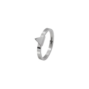Edge Only Triangle Stacking Ring in Sterling Silver