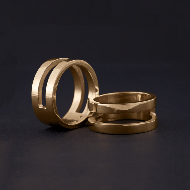 14ct Gold Parallel Rings