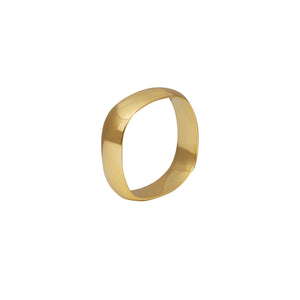 Edge Only Squared Off Ring in 14 carat gold