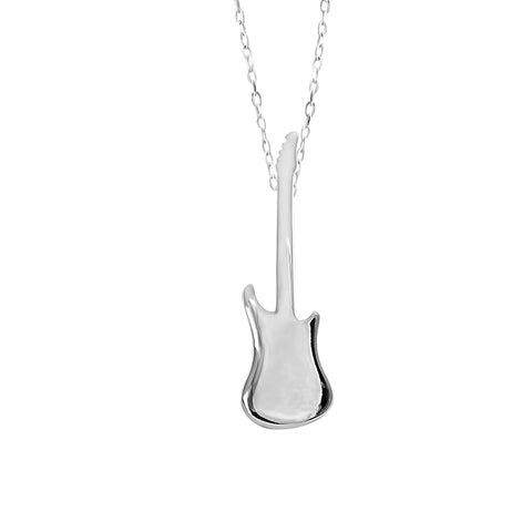 Electric Guitar Pendant in Sterling Silver