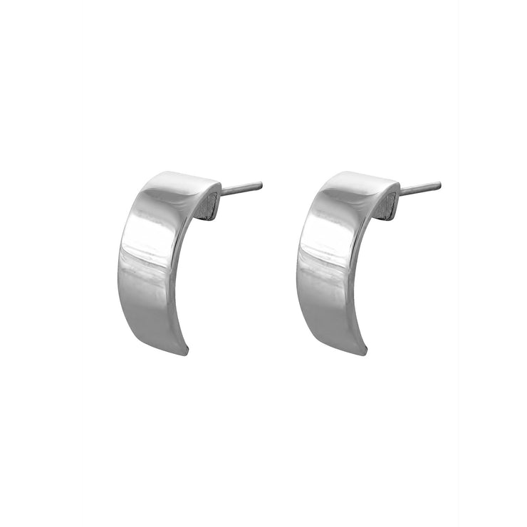 Edge Only Curve Earrings in Sterling Silver