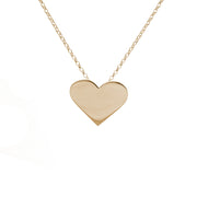 Edge Only Heart Pendant in 18ct gold vermeil