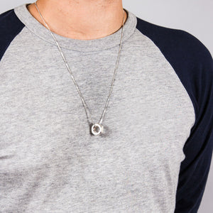 Men's Hex Nut Pendant XL in Sterling Silver