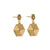 Edge Only Hexagon Drop Earrings in 18ct gold vermeil EOxLH