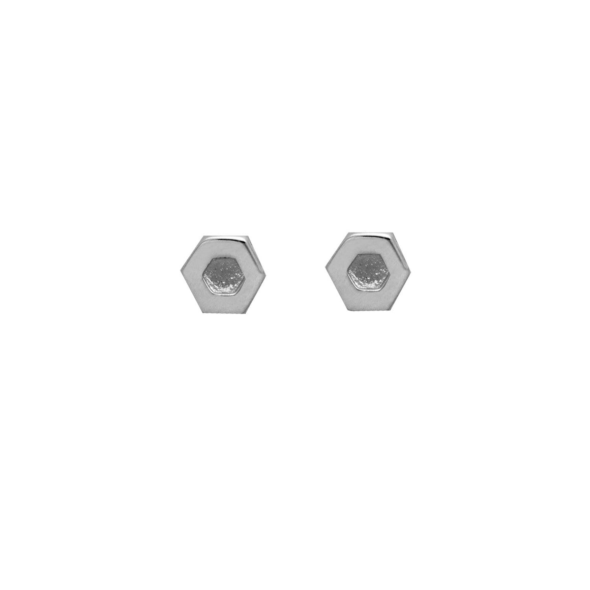 Hexagon Earrings in sterling silver EOxLH