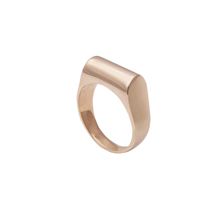 Edge Only High Top Ring in 14 carat Gold