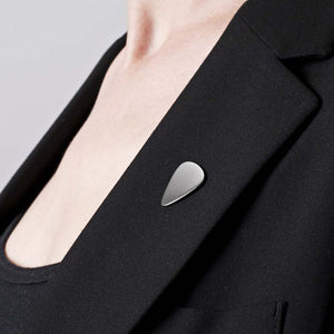 Plectrum Lapel Pin in Sterling Silver