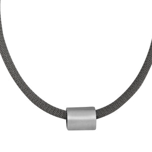Large Marquise Matt Bead Necklace in Sterling Silver