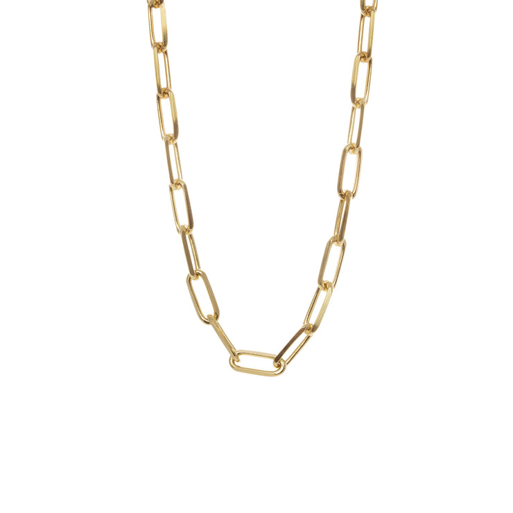 Edge Only Long Link Necklace in 18ct gold vermeil