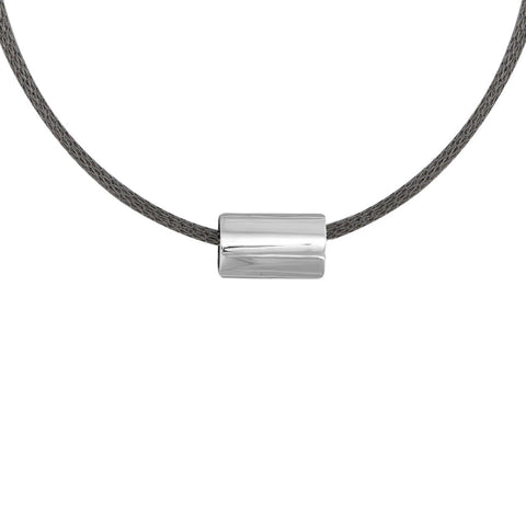 Medium Marquise Bead Necklace in Sterling Silver
