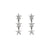 Edge Only Megastar 3 Star Drop Earrings in sterling silver