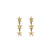 Edge Only Megastar 3 Star Drop Earrings in 18ct gold vermeil