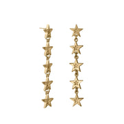 Edge Only Megastar 5 Star Drop Earrings in 18ct gold vermeil