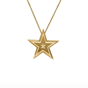 Edge Only Megastar Pendant in 18ct gold vermeil
