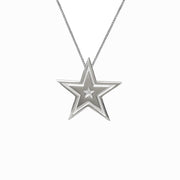 Edge Only Megastar Pendant in sterling silver