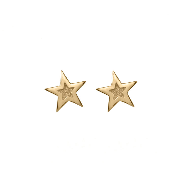 Edge Only Megastar Earrings 9ct gold