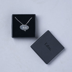 Speech Bubble Pendant in sterling silver engraved in Edge Only box
