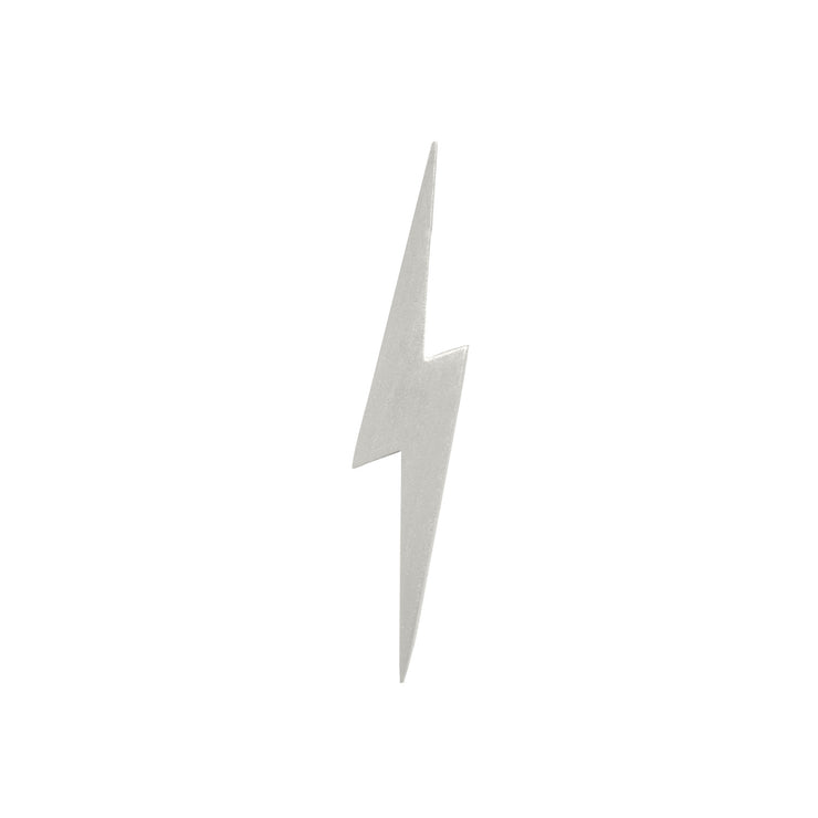 Edge Only Pointed Lightning Bolt Pin in matt satin sterling silver