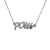 Edge Only POW Letters Necklace in Sterling Silver