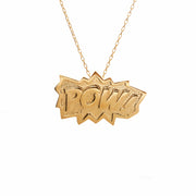 Edge Only POW Pendant XL in 18ct gold vermeil