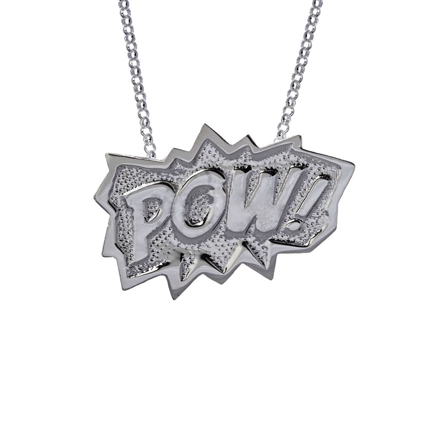 POW Pendant Extra Large Long in Sterling Silver
